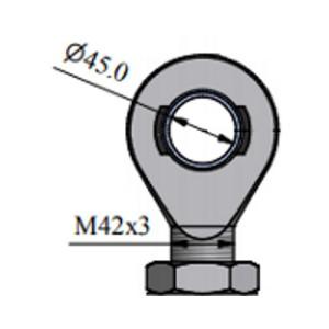 Zawiesie EM45 z przegubem do dynamometru 100kN - 200kN - 1 szt.