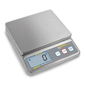 Kompaktowa waga stołowa KERN FOB-S, całość wykonana ze stali nierdzewnej