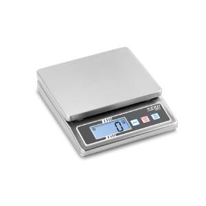 Kompaktowa waga stołowa KERN FOB 0.5K-4NS, całość wykonana ze stali nierdzewnej
