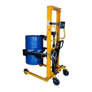 mobilny ręczny wózek do ważenia beczek 350kg, podnoszenia 1,6m