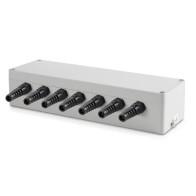 Sumator wagowy  / puszka sumująca do wagi z IP65 z aluminium dla max  6 szt. tensometrów