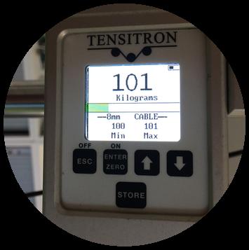 Wyświetlacz miernika Tensitron CX-1