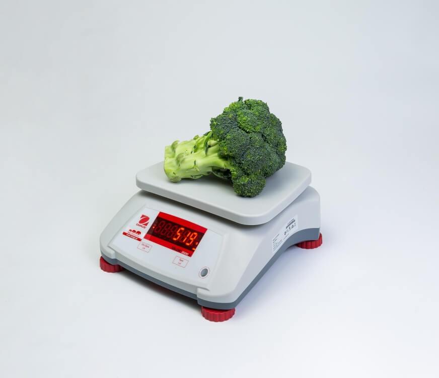 Brokuł na wadze