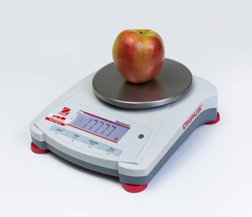 Jabłko na wadze